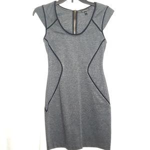 Express Gray & Black Zip-Back Mini Dress